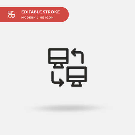 Television Simple vector icon. Illustration symbol design template for web mobile UI element. Perfect color modern pictogram on editable stroke. Television icons for your business project