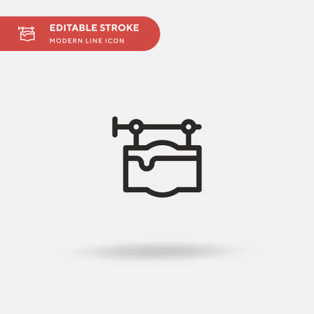 Signpost Simple vector icon. Illustration symbol design template for web mobile UI element. Perfect color modern pictogram on editable stroke. Signpost icons for your business project
