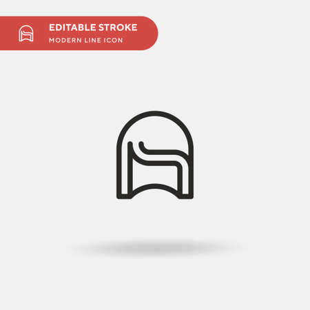 Wig Simple vector icon. Illustration symbol design template for web mobile UI element. Perfect color modern pictogram on editable stroke. Wig icons for your business project