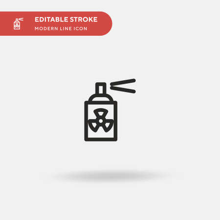 Radioactive Simple vector icon. Illustration symbol design template for web mobile UI element. Perfect color modern pictogram on editable stroke. Radioactive icons for your business project