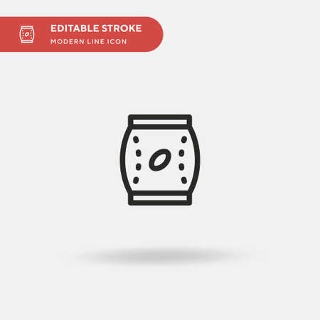 Coffee Bag Simple vector icon. Illustration symbol design template for web mobile UI element. Perfect color modern pictogram on editable stroke. Coffee Bag icons for your business project