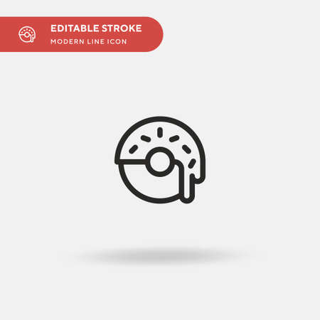Doughnut Simple vector icon. Illustration symbol design template for web mobile UI element. Perfect color modern pictogram on editable stroke. Doughnut icons for your business project