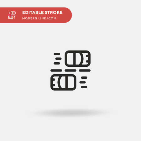 Lane Simple vector icon. Illustration symbol design template for web mobile UI element. Perfect color modern pictogram on editable stroke. Lane icons for your business project  イラスト・ベクター素材