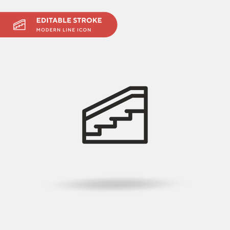 Stairs Simple vector icon. Illustration symbol design template for web mobile UI element. Perfect color modern pictogram on editable stroke. Stairs icons for your business project Иллюстрация