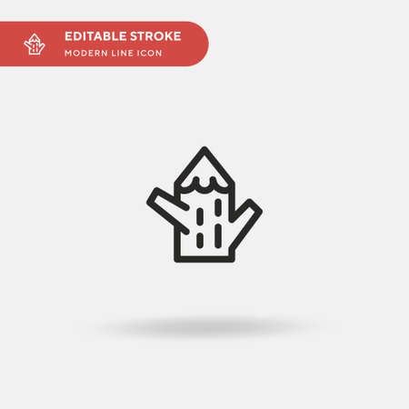 Tree Stump Simple vector icon. Illustration symbol design template for web mobile UI element. Perfect color modern pictogram on editable stroke. Tree Stump icons for your business project