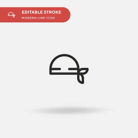 Bandana Simple vector icon. Illustration symbol design template for web mobile UI element. Perfect color modern pictogram on editable stroke. Bandana icons for your business project Çizim