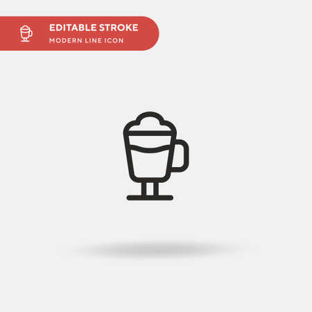 Irish Coffee Simple vector icon. Illustration symbol design template for web mobile UI element. Perfect color modern pictogram on editable stroke. Irish Coffee icons for your business project Illustration