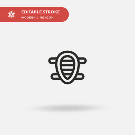Elbow Pads Simple vector icon. Illustration symbol design template for web mobile UI element. Perfect color modern pictogram on editable stroke. Elbow Pads icons for your business project
