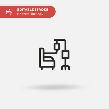 Chemotherapy Simple vector icon. Illustration symbol design template for web mobile UI element. Perfect color modern pictogram on editable stroke. Chemotherapy icons for your business project