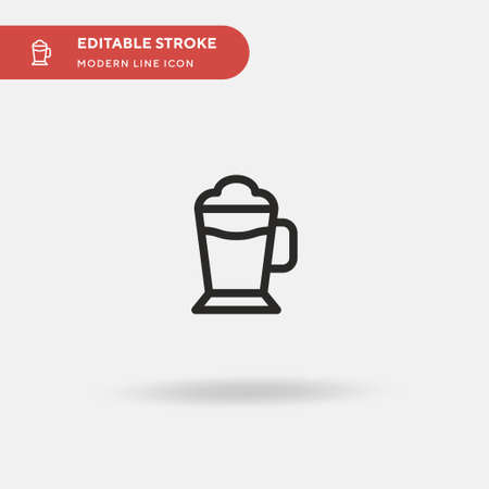 Cappuccino Simple vector icon. Illustration symbol design template for web mobile UI element. Perfect color modern pictogram on editable stroke. Cappuccino icons for your business project