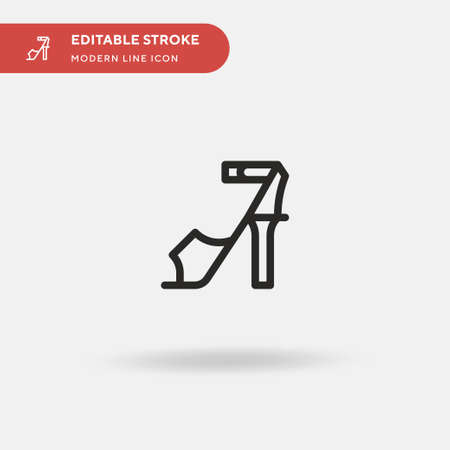 High Heels Simple vector icon. Illustration symbol design template for web mobile UI element. Perfect color modern pictogram on editable stroke. High Heels icons for your business project