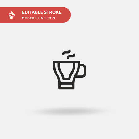 Espresso Simple vector icon. Illustration symbol design template for web mobile UI element. Perfect color modern pictogram on editable stroke. Espresso icons for your business project Illustration