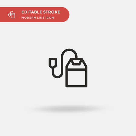 Teabag Simple vector icon. Illustration symbol design template for web mobile UI element. Perfect color modern pictogram on editable stroke. Teabag icons for your business project Illustration