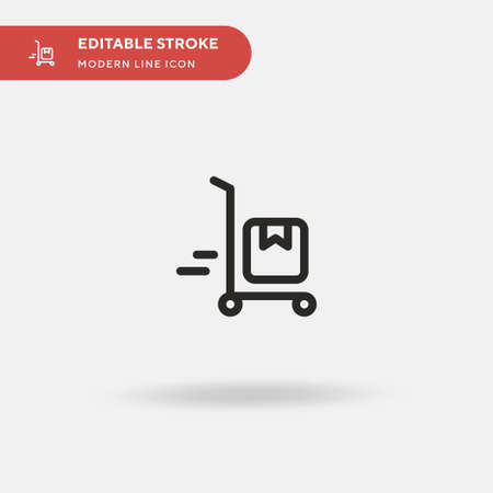 Shipping Simple vector icon. Illustration symbol design template for web mobile UI element. Perfect color modern pictogram on editable stroke. Shipping icons for your business project