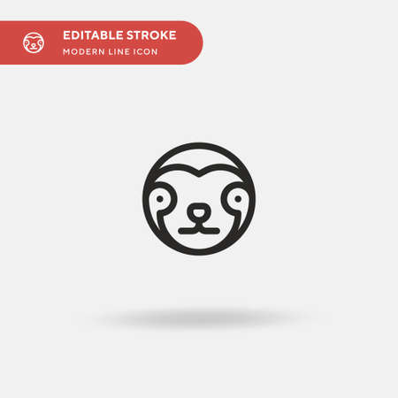 Sloth Simple vector icon. Illustration symbol design template for web mobile UI element. Perfect color modern pictogram on editable stroke. Sloth icons for your business project Illustration