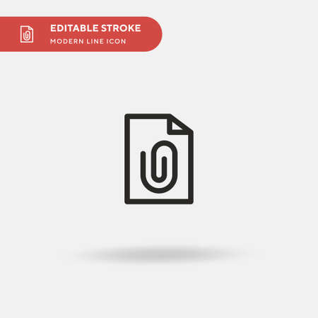 Attached Simple vector icon. Illustration symbol design template for web mobile UI element. Perfect color modern pictogram on editable stroke. Attached icons for your business project