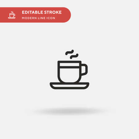 Coffee Simple vector icon. Illustration symbol design template for web mobile UI element. Perfect color modern pictogram on editable stroke. Coffee icons for your business project