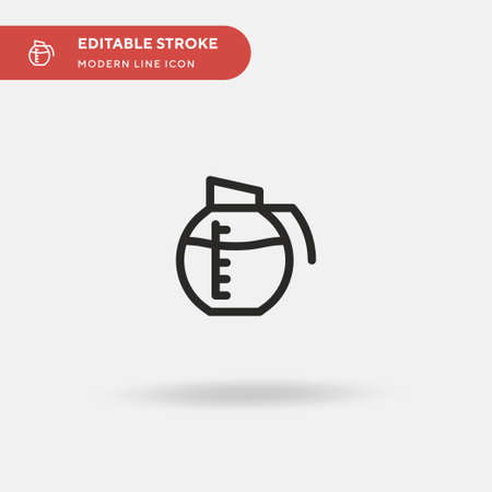 Coffee Pot Simple vector icon. Illustration symbol design template for web mobile UI element. Perfect color modern pictogram on editable stroke. Coffee Pot icons for your business project