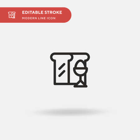 Boiled Egg Simple vector icon. Illustration symbol design template for web mobile UI element. Perfect color modern pictogram on editable stroke. Boiled Egg icons for your business project Illustration