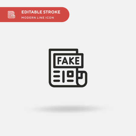 Fake News Simple vector icon. Illustration symbol design template for web mobile UI element. Perfect color modern pictogram on editable stroke. Fake News icons for your business project