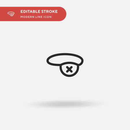 Eyepatch Simple vector icon. Illustration symbol design template for web mobile UI element. Perfect color modern pictogram on editable stroke. Eyepatch icons for your business project