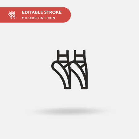 Ballet Simple vector icon. Illustration symbol design template for web mobile UI element. Perfect color modern pictogram on editable stroke. Ballet icons for your business project