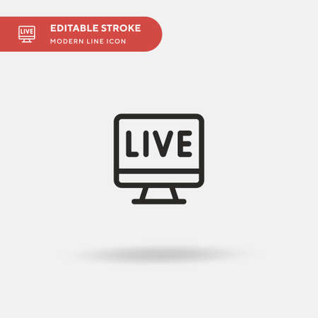 Live Streaming Simple vector icon. Illustration symbol design template for web mobile UI element. Perfect color modern pictogram on editable stroke. Live Streaming icons for your business project