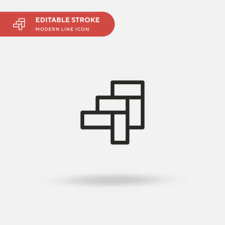 Parquet Simple vector icon. Illustration symbol design template for web mobile UI element. Perfect color modern pictogram on editable stroke. Parquet icons for your business project 向量圖像