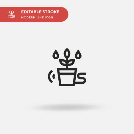 Irrigation Simple vector icon. Illustration symbol design template for web mobile UI element. Perfect color modern pictogram on editable stroke. Irrigation icons for your business project Ilustracja
