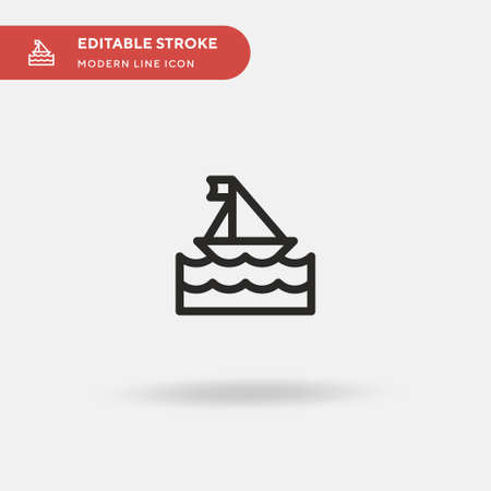 Yacht Simple vector icon. Illustration symbol design template for web mobile UI element. Perfect color modern pictogram on editable stroke. Yacht icons for your business project 向量圖像