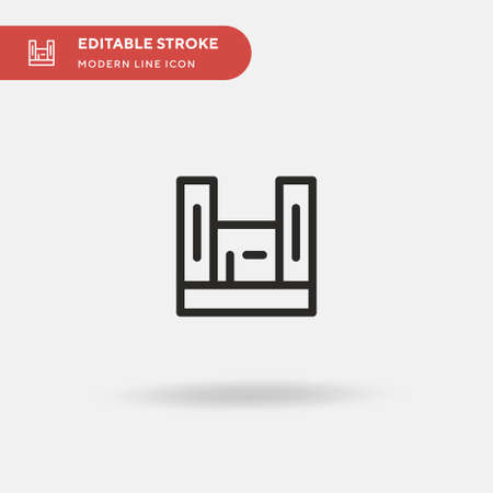 Apartheid Museum Simple vector icon. Illustration symbol design template for web mobile UI element. Perfect color modern pictogram on editable stroke. Apartheid Museum icons for your business project