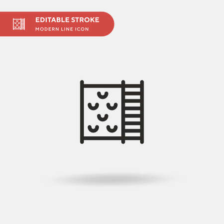 Climbing Wall Simple vector icon. Illustration symbol design template for web mobile UI element. Perfect color modern pictogram on editable stroke. Climbing Wall icons for your business project Ilustração