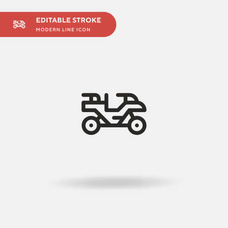 Quad Simple vector icon. Illustration symbol design template for web mobile UI element. Perfect color modern pictogram on editable stroke. Quad icons for your business project