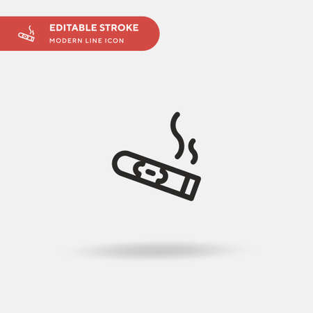 Cigar Simple vector icon. Illustration symbol design template for web mobile UI element. Perfect color modern pictogram on editable stroke. Cigar icons for your business project
