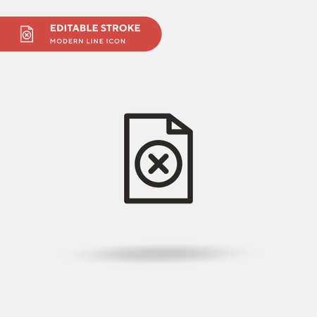 Cancel Simple vector icon. Illustration symbol design template for web mobile UI element. Perfect color modern pictogram on editable stroke. Cancel icons for your business project Ilustração