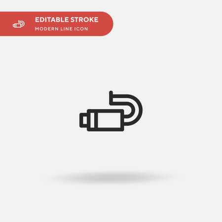Exhaust Simple vector icon. Illustration symbol design template for web mobile UI element. Perfect color modern pictogram on editable stroke. Exhaust icons for your business project Stock Illustratie