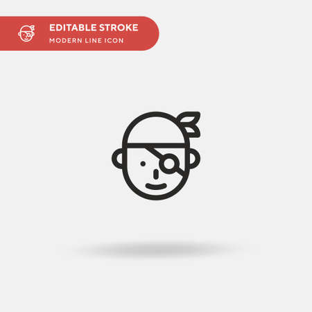 Sailor Simple vector icon. Illustration symbol design template for web mobile UI element. Perfect color modern pictogram on editable stroke. Sailor icons for your business project