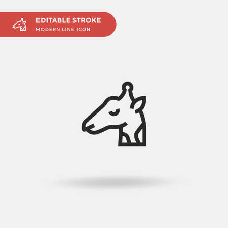 Giraffe Simple vector icon. Illustration symbol design template for web mobile UI element. Perfect color modern pictogram on editable stroke. Giraffe icons for your business project Ilustracja