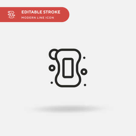 Soap Simple vector icon. Illustration symbol design template for web mobile UI element. Perfect color modern pictogram on editable stroke. Soap icons for your business project
