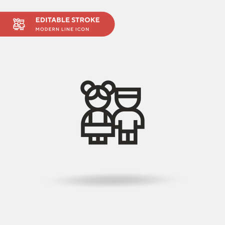 Children Simple vector icon. Illustration symbol design template for web mobile UI element. Perfect color modern pictogram on editable stroke. Children icons for your business project Stock Illustratie
