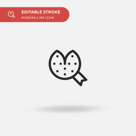 Fortune Cookie Simple vector icon. Illustration symbol design template for web mobile UI element. Perfect color modern pictogram on editable stroke. Fortune Cookie icons for your business project