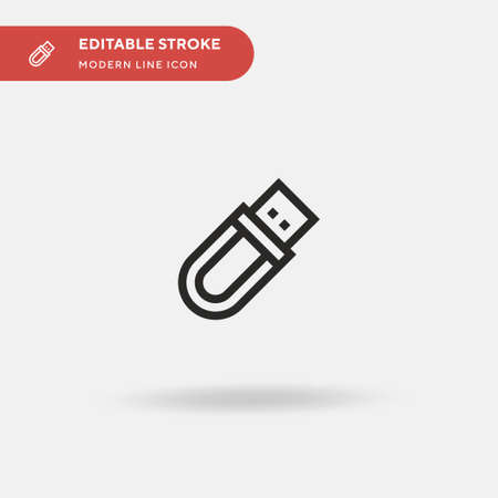Pendrive Simple vector icon. Illustration symbol design template for web mobile UI element. Perfect color modern pictogram on editable stroke. Pendrive icons for your business project
