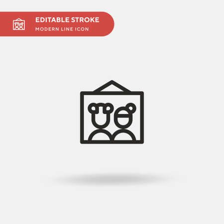 Picture Simple vector icon. Illustration symbol design template for web mobile UI element. Perfect color modern pictogram on editable stroke. Picture icons for your business project Stockfoto - 150931490