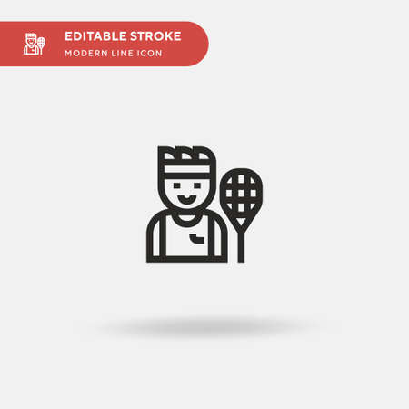 Tennis Simple vector icon. Illustration symbol design template for web mobile UI element. Perfect color modern pictogram on editable stroke. Tennis icons for your business project