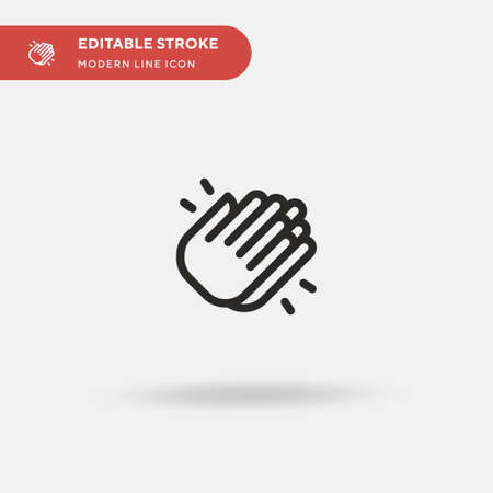 Clap Simple vector icon. Illustration symbol design template for web mobile UI element. Perfect color modern pictogram on editable stroke. Clap icons for your business project