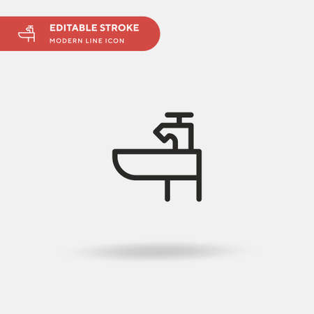 Basin Simple vector icon. Illustration symbol design template for web mobile UI element. Perfect color modern pictogram on editable stroke. Basin icons for your business project