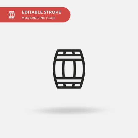 Barrel Simple vector icon. Illustration symbol design template for web mobile UI element. Perfect color modern pictogram on editable stroke. Barrel icons for your business project Ilustração