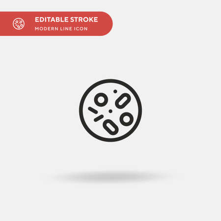 Petri Dish Simple vector icon. Illustration symbol design template for web mobile UI element. Perfect color modern pictogram on editable stroke. Petri Dish icons for your business project