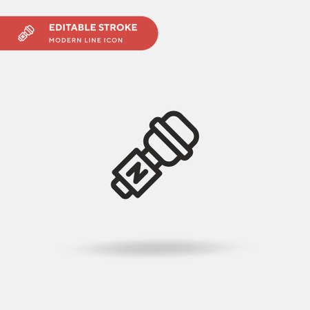 Journalism Simple vector icon. Illustration symbol design template for web mobile UI element. Perfect color modern pictogram on editable stroke. Journalism icons for your business project Ilustração