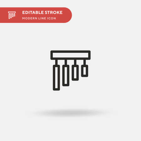 Chime Simple vector icon. Illustration symbol design template for web mobile UI element. Perfect color modern pictogram on editable stroke. Chime icons for your business project